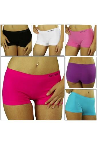 Elastic Seamless Athletic Nylon Exercise Sport Boyshort Underwear