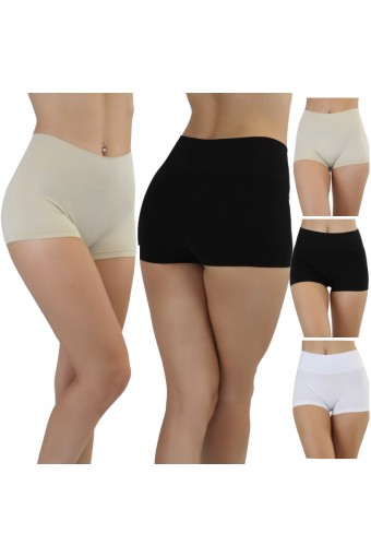 Seamless High Waisted Stomach Control Briefs  - One Size