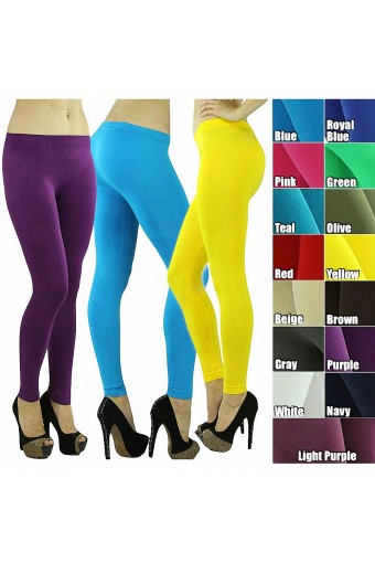 Women's Sexy Seamless Opaque Full Length Ankle Leggings Tights