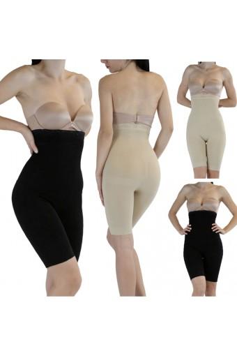 New Stomach High Waist Lace Top Body Shaper Leg Firm Control Fajas Girdle