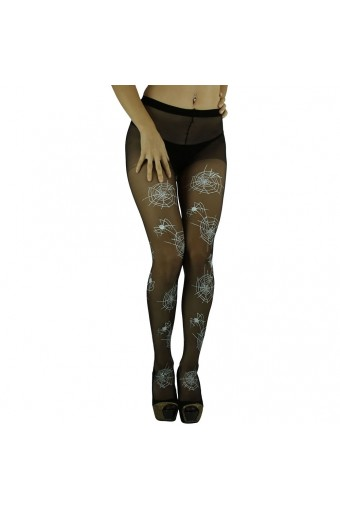 ToBeInStyle Women's Halloween Spiderweb Stocking Pantyhose - One Size