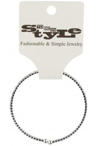Two Tone Ridged Ring Metallic Bracelet