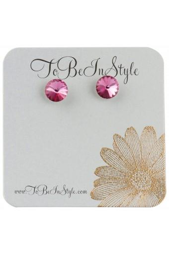 Simply Dazzling Purple Crystal Stud Earrings