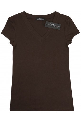 Women's Basic V-Neck Short Sleeve T-Shirt