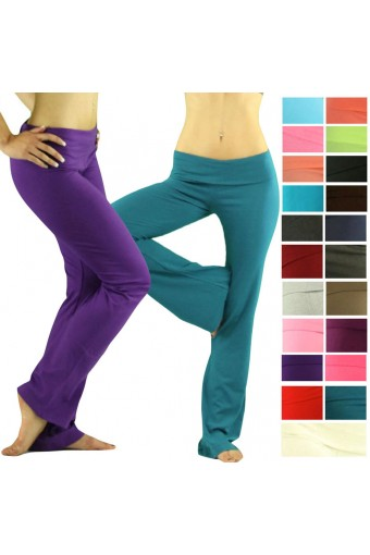 Comfy Foldover Soft Yoga Sweat Track Lounge Gym Sport Pant