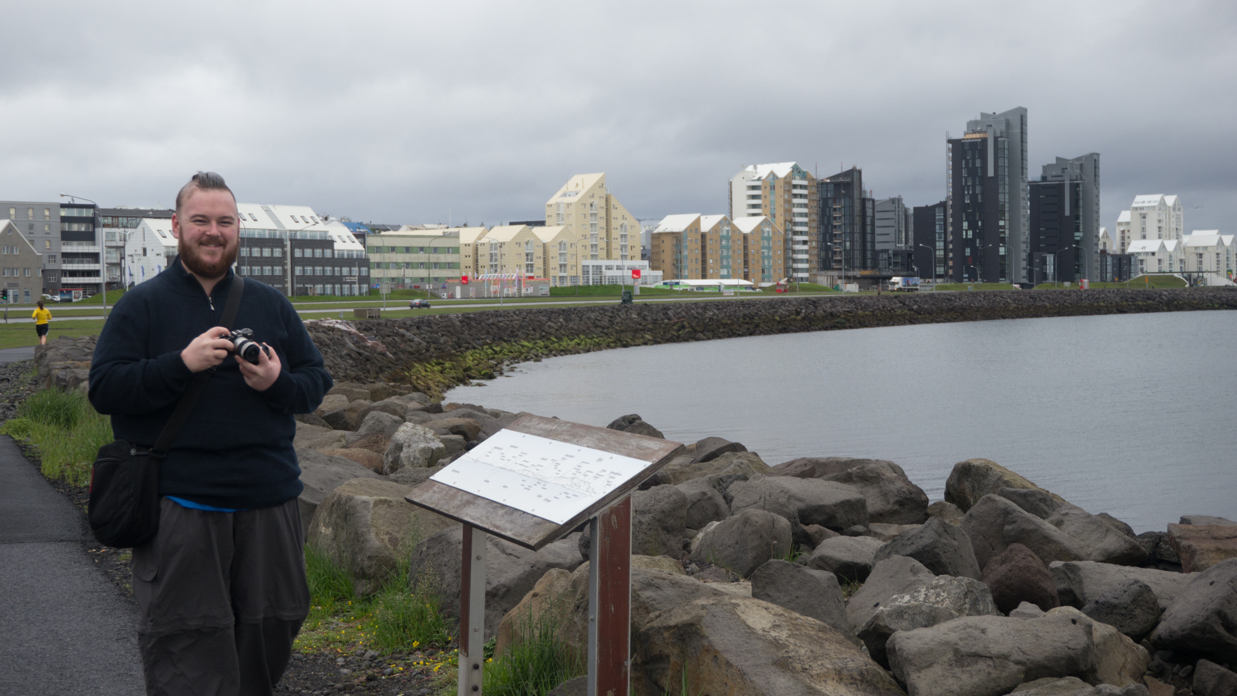 Tim on Sea Front, Reykjavik