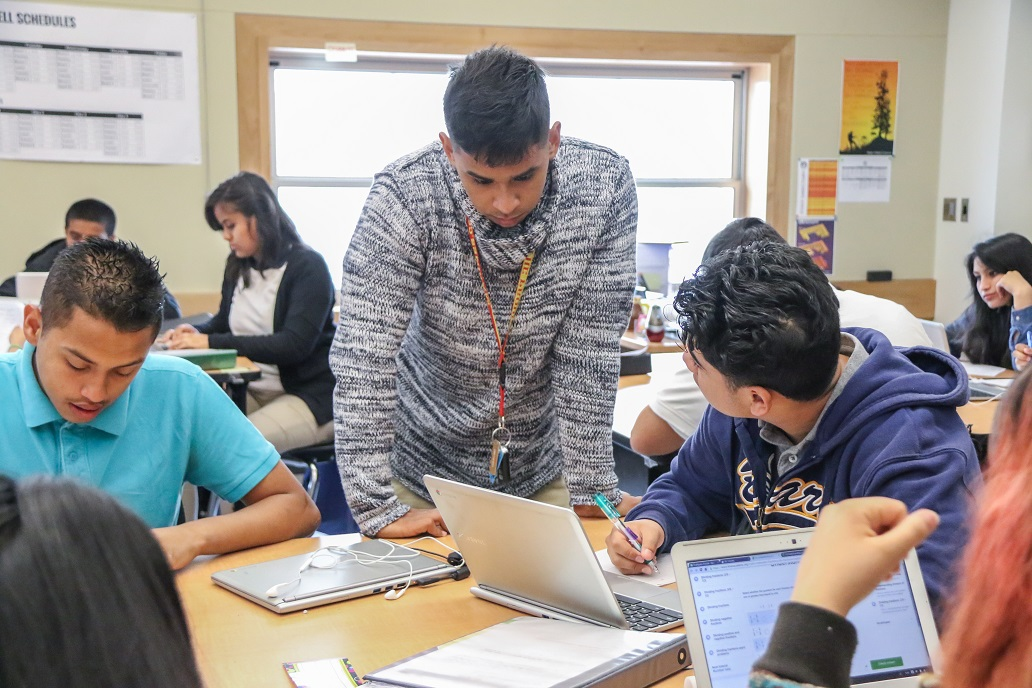 Students work in mixed-skill level teams.