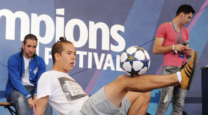 World Freestyle Football Championship London at the UEFA Champions Festival