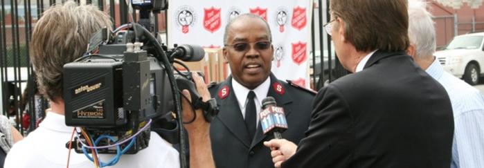 Lt. Colonel Victor Leslie at Press Confernce