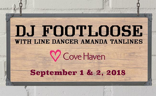 DJ Footloose with Line Dancer Amanda Tanlines