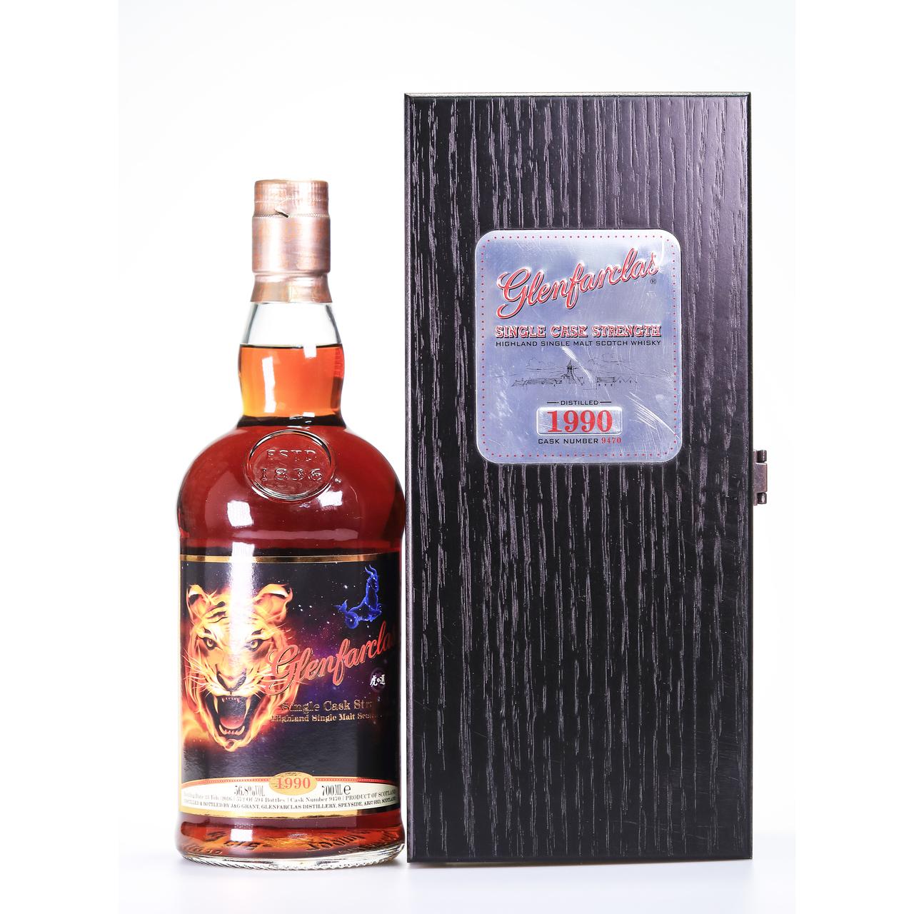 Glenfarclas 1990 single tiger's exclusive selection cask  9470