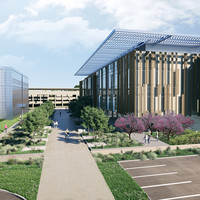 A rendering of the Chen Neuroscience Research Building.