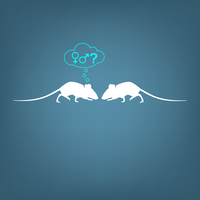 Illustration of two mice interacting