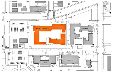 A site plan for the Bechtel Residence