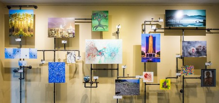 Art created by members of the Caltech community will soon go on display in venues around Pasadena.