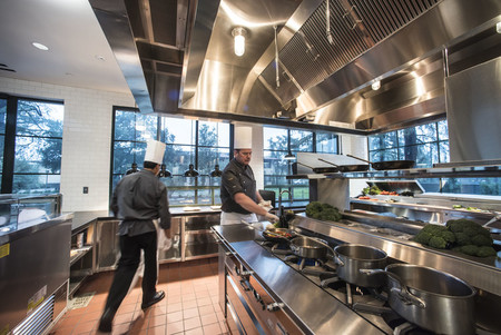The new space, attached to the Athenaeum's existing kitchen, doubles the club's food-prepping square footage.