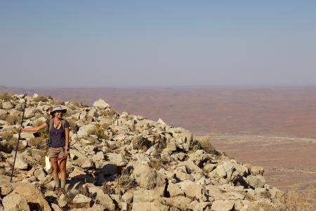 Alice Michel in Namibia