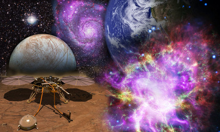 Collage of space images