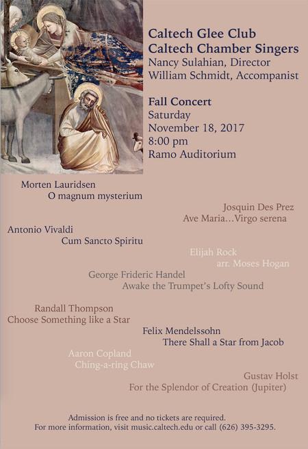 flyer for 11/18/2017 concert