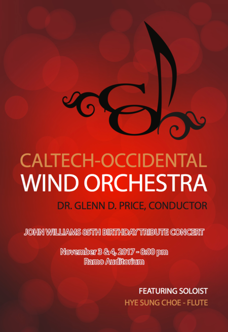 flyer for Caltech-Occidental Wind Orchestra Concerts
