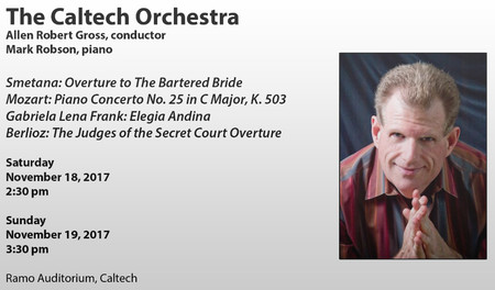 flyer for Caltech Orchestra November 2017 concerts
