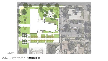 Proposed layout and location for the Tianqiao and Chrissy Chen Neuroscience Research Building. The facility, situated at the northwest corner of campus, is scheduled to open in the fall of 2020.