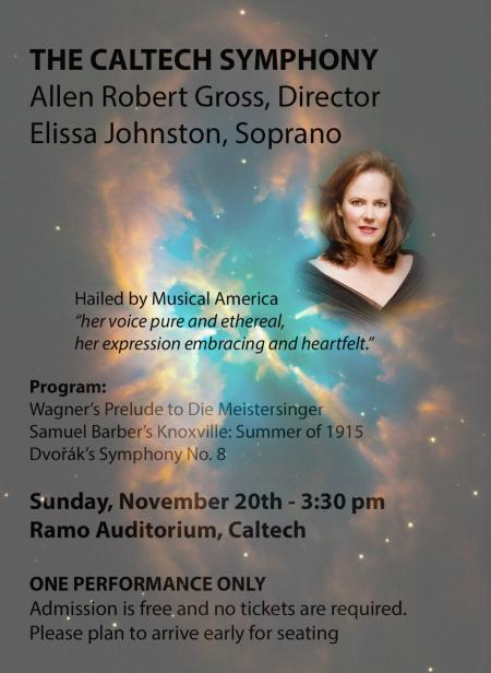 image of the poster for the Caltech Symphony concert on 11/20/2016