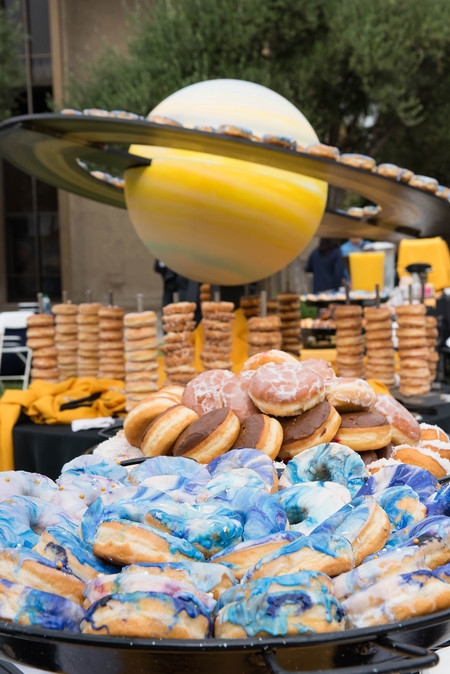 photo of donut display at Cassini Finale event