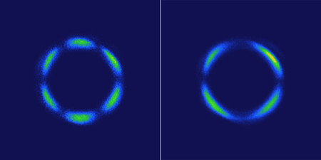 Patterns from atomic crystals; At right, 3-D quantum liquid crystal