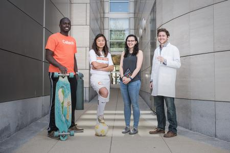 photo of a group of four students