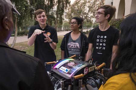 Caltech robotics team members talk about their work.