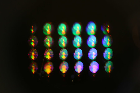 Retroreflectors created in the lab of Andrei Faraon reflect light.