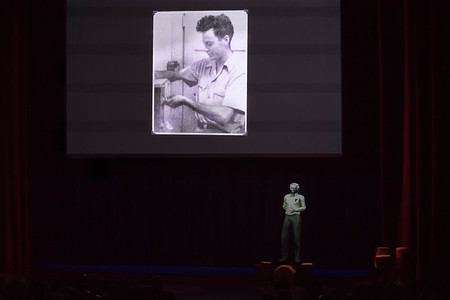 projection of Richard Feynman