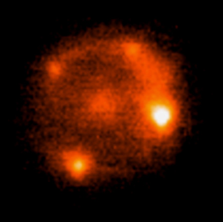 An image of the gravitationally lensed iPTF16geu Type Ia supernova.
