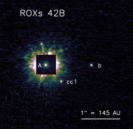 Planetary-mass companion ROXs 42B b