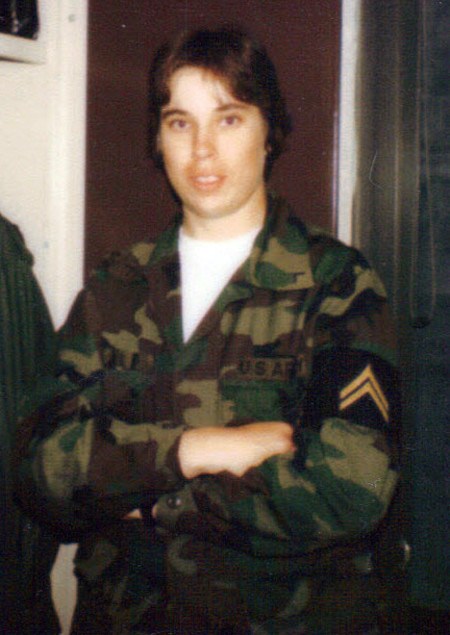 Kathy Carpenter, security technical operations manager, served in the U.S. Army as a military police officer and in the Utah National Guard and the U.S. Army Reserves. The photo above was taken in the early 1980s at Fort McClellan in Alabama.