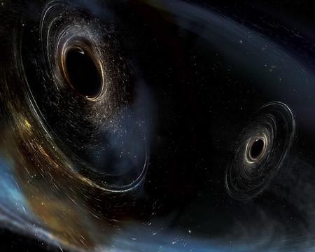 Artist concept of merging black holes