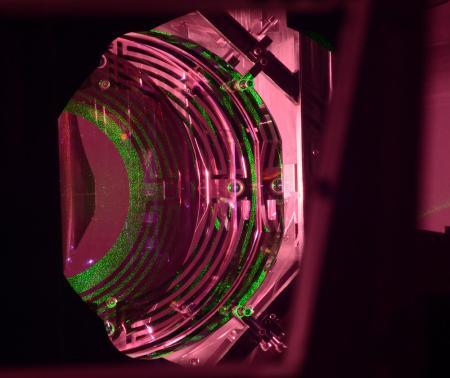 An Advanced LIGO optic that senses gravitational waves.
