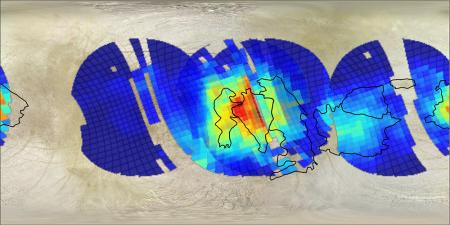 Possible salt deposits mapped onto the Powys Regio area of Europa.
