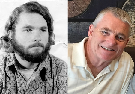 Michael Walsh in the 1970s and today