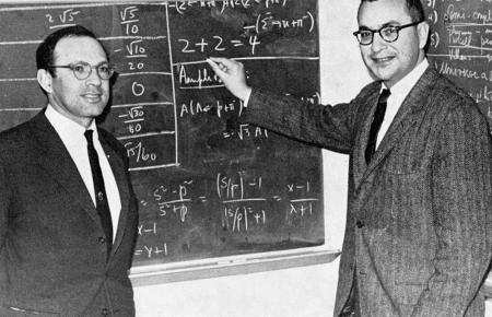 Yuval Ne'eman and Murray Gell-Mann in 1964.