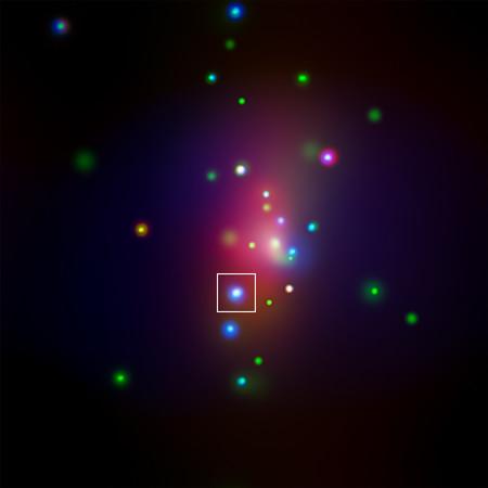Chandra image of galaxy NGC 7331