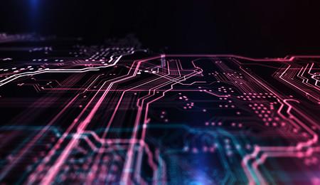 Computer chip illustration