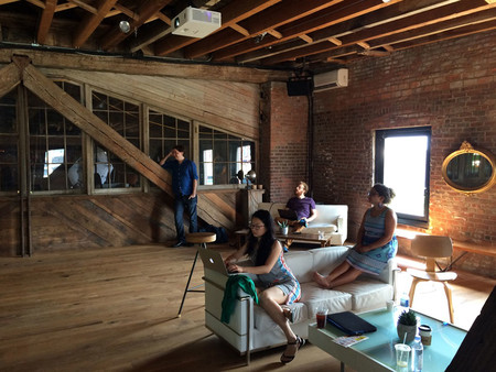 A loft space at Pioneer Works