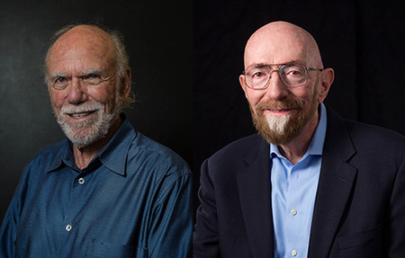 photo of Barry Barish and Kip Thorne
