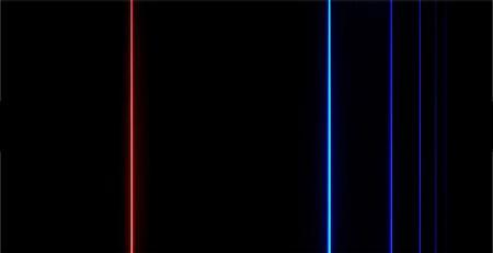 Bright Line Emission Spectrum of Hydrogen Hydrogen Emission Lines