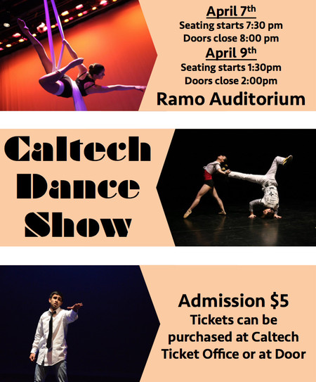poster for Caltech Dance Show