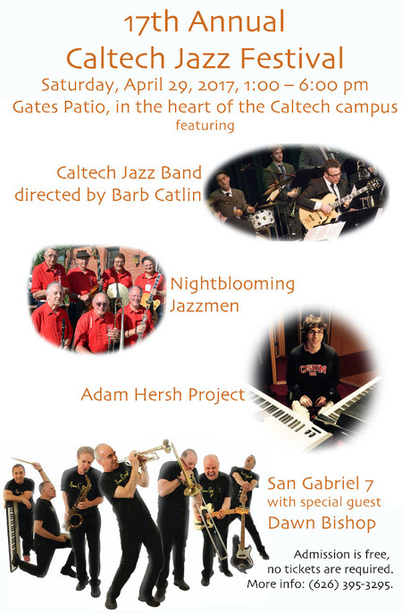 poster for Caltech Jazz Festival on April 29, 2017
