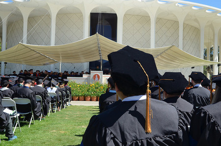 photo of graduating students at Caltech's 2017 Commencement
