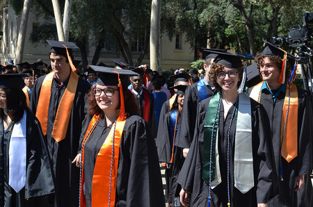 photo of graduates at Caltech's 2017 Commencement